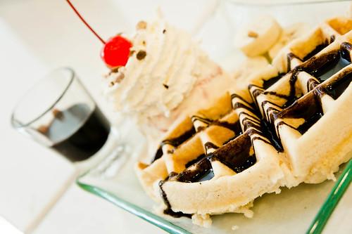 Waffle with Ice-cream