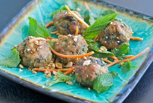 Thai pork and shrimp meatballs