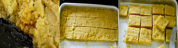How to make mysore pak - Step4