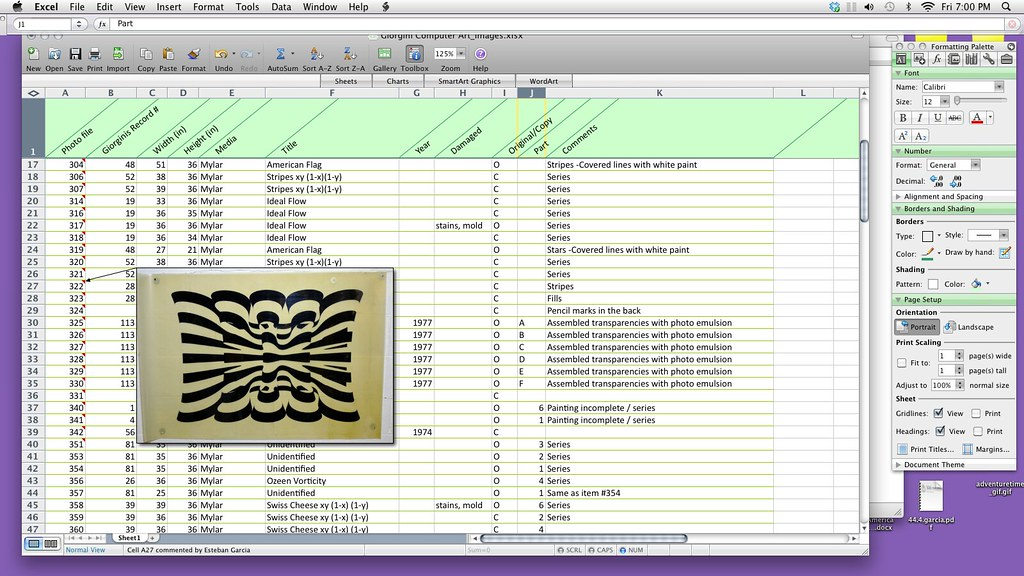 Database of Giorgini's computer art