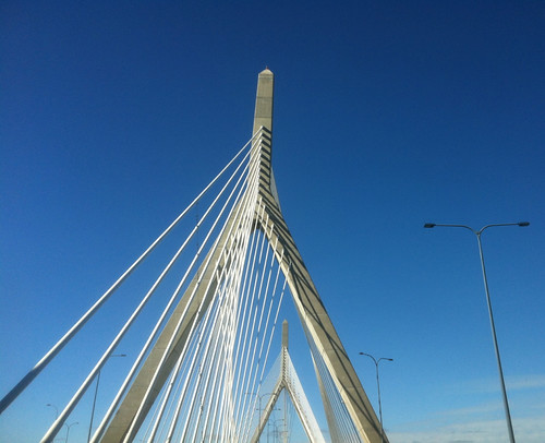 Driving on the Zakim Bridge by randubnick
