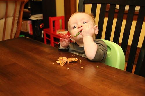 Luke at dinner