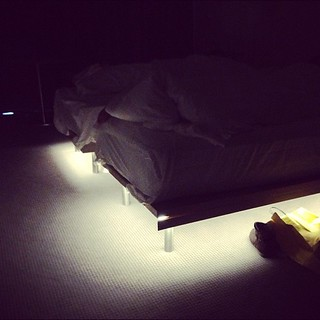 Lights under our beds (so you know there's no monsters)