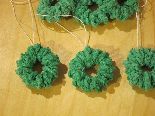 half made mini wreaths
