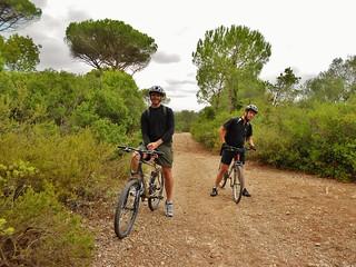Dennis and Pedro on Bikes