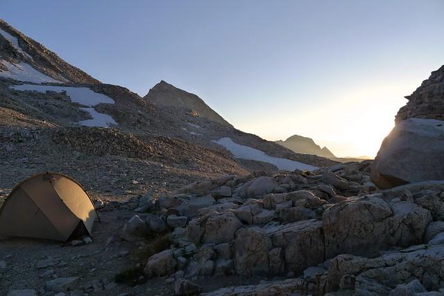 Campsite atop Muir Pass