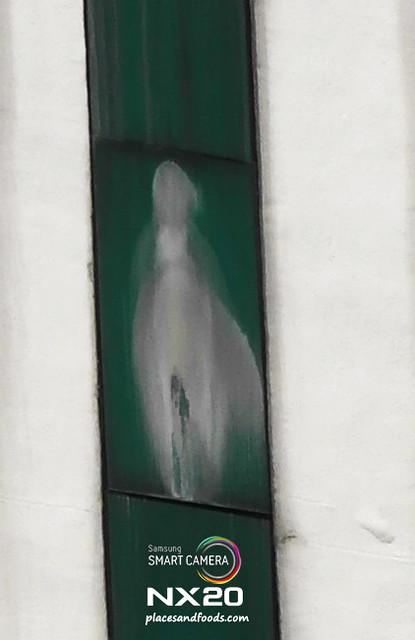 virgin mary sjmc window