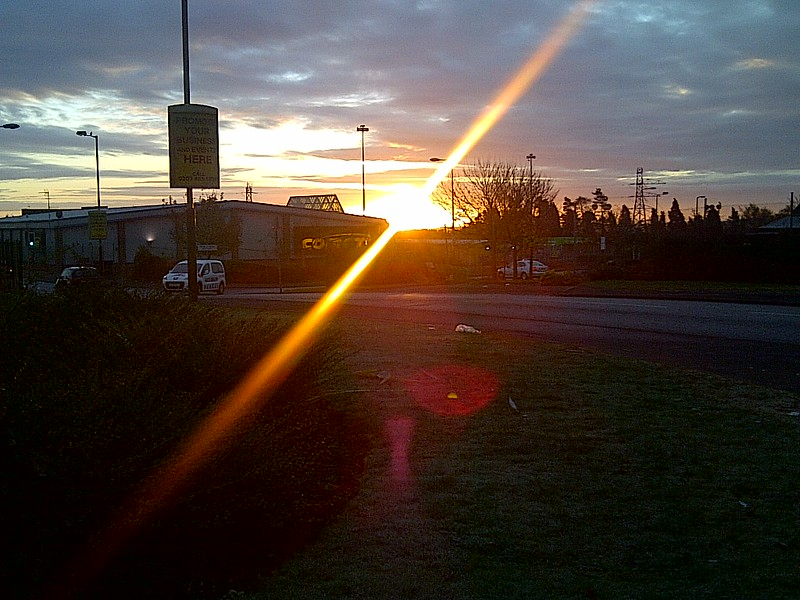An urban sunrise.