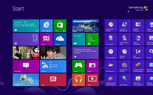 Windows 8 Tiles Menu