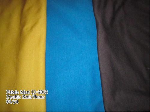 Fabric Mart Ponte 11-2012