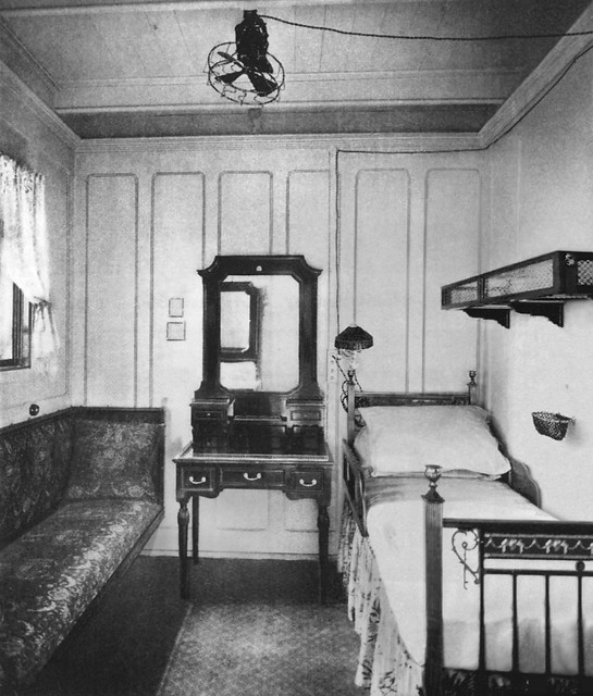 1st Class A Deck Cabin Of R M S Olympic Twin Of Titanic