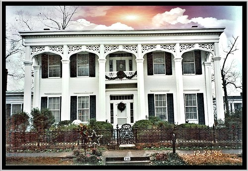 sunset sky house film clouds fence mississippi iron flickr historic ms historical register mansion antebellum wrought columbusms southernhistory nrhp onasill