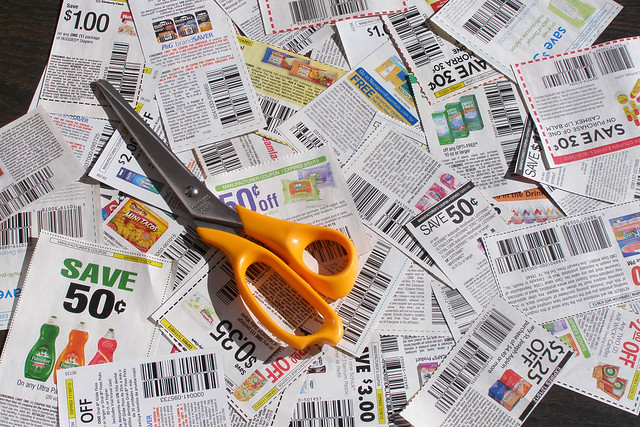 Clipped Coupons With Scissors 1 from Flickr via Wylio