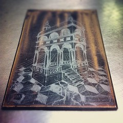 Reversal (graphite transfer). #printmaking #tarot