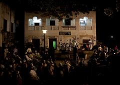 Crowd Listening To Poetry Reciting During Maulidi Festival, Lamu Kenya, Night Time