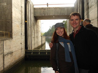 Clare & Dennis at a River Lock