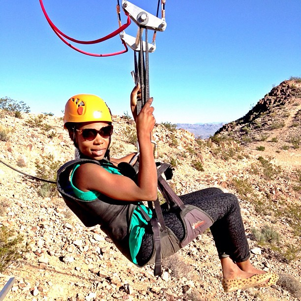 Zip lining over mountains, valleys, mountain bikers! Four times!!! I loved it!