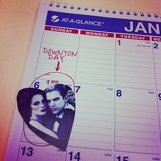 Save the Date: 1/6/2013. Have you marked your calendar? Show us! #downtonPBS