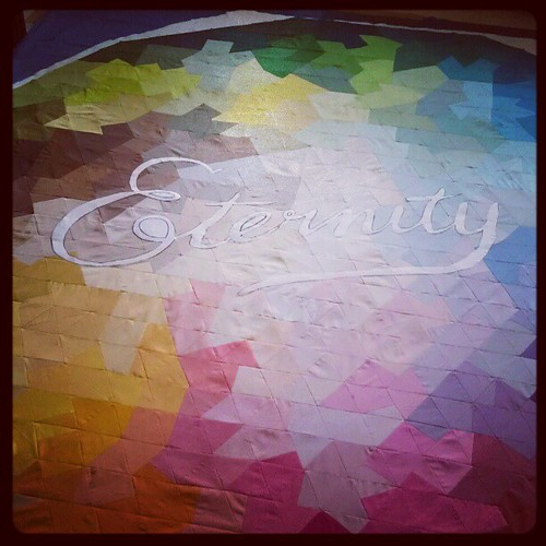 Eternity quilt: the signature doesn't seem quite big enough...