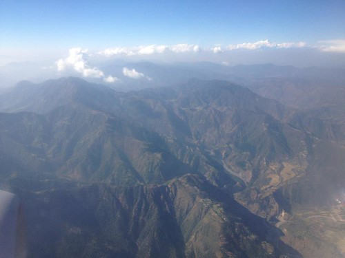 Flying over Kathmandu, Nepal... e