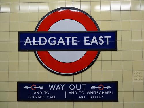 Aldgate East Roundel