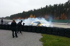 Dreharbeiten in Dudenhofen mit dem Opel Astra OPC 'Cup'