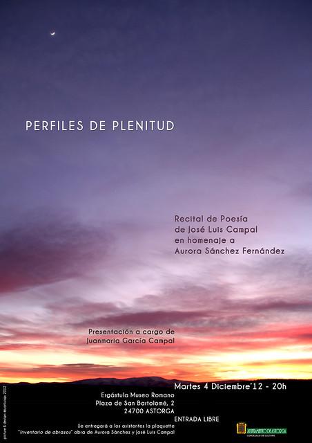 PERFILES DE PLENITUD - RECITAL POÉTICO DE JOSÉ LUIS CAMPAL - ASTORGA 4.12.12