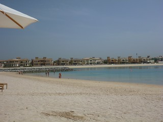Image of Frond A Beach with a length of 258 meters. dubai uae palm arabemirates