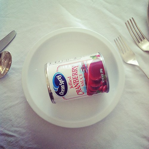 My Dad always insisted on canned cranberries.