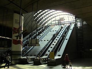 Canary Wharf escalators