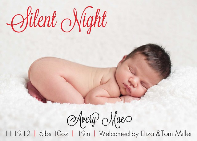 Silent Night birth announcement 2