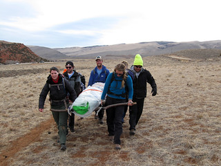 Litter evacuation in Red Canyon