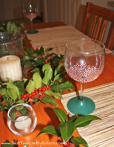 DIY Christmas Chalkboard Glass Tutorial