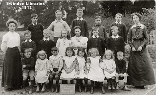c1912: South Marston School, Wiltshire (Postcard)