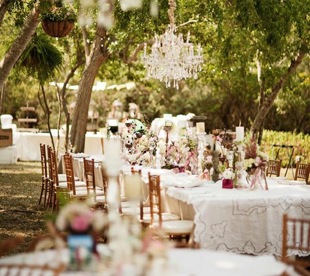 Elegant outdoor wedding reception ideas Flickr Photo