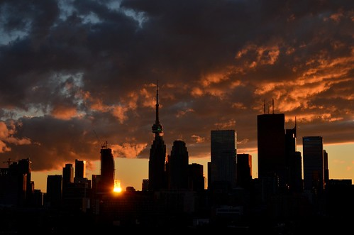 Sunset - Toronto skyline ~ Explored ~