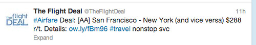 SFO to JFK Fare from The Flight Deal