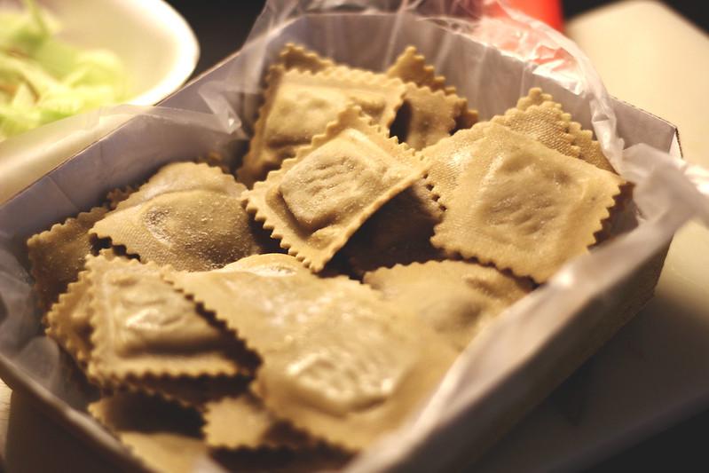 tortelli alla farina di castagne con zucca