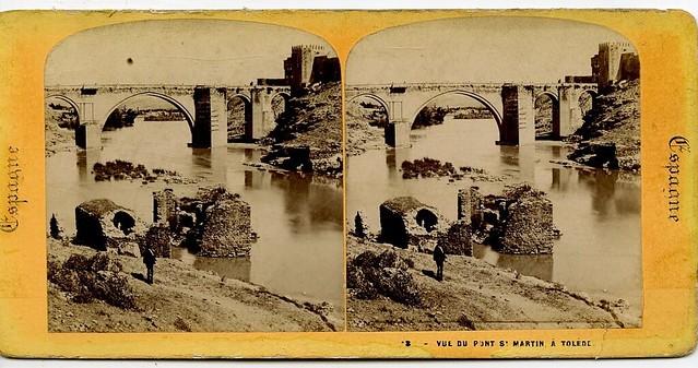 Puente de San Martín hacia 1863 por Ernerst Lamy