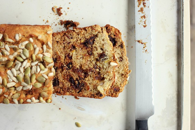 Banana, date + olive oil bread {gluten + dairy-free}
