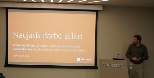 Naujo darbo stiliaus biuras pagal Microsoft