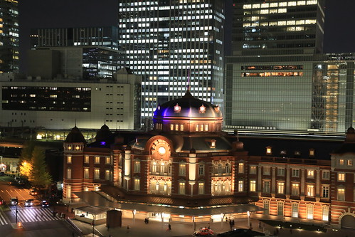 New Old Tokyo Station Night View (test ISO4000)