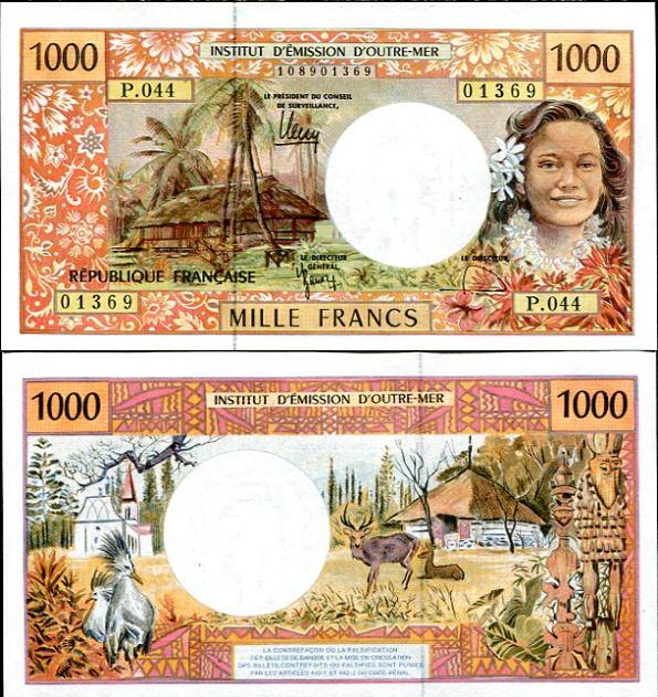 1000 Frankov Francúzske zámorské územia v Pacifiku 1996, Pick 2