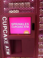 Sadly the Sprinkles Cupcake ATM doesn't take my card by Rachel from Cupcakes Take the Cake