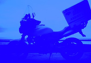 バイク便 blue