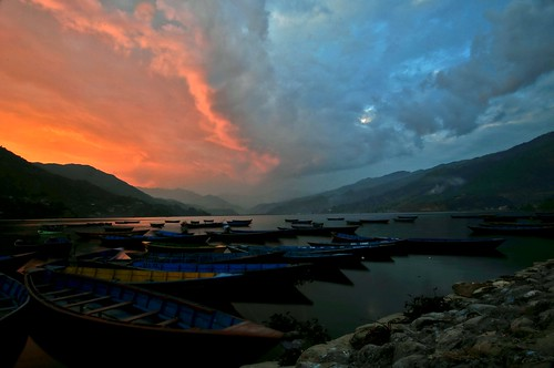 An Evening in Pokhara - Nepal