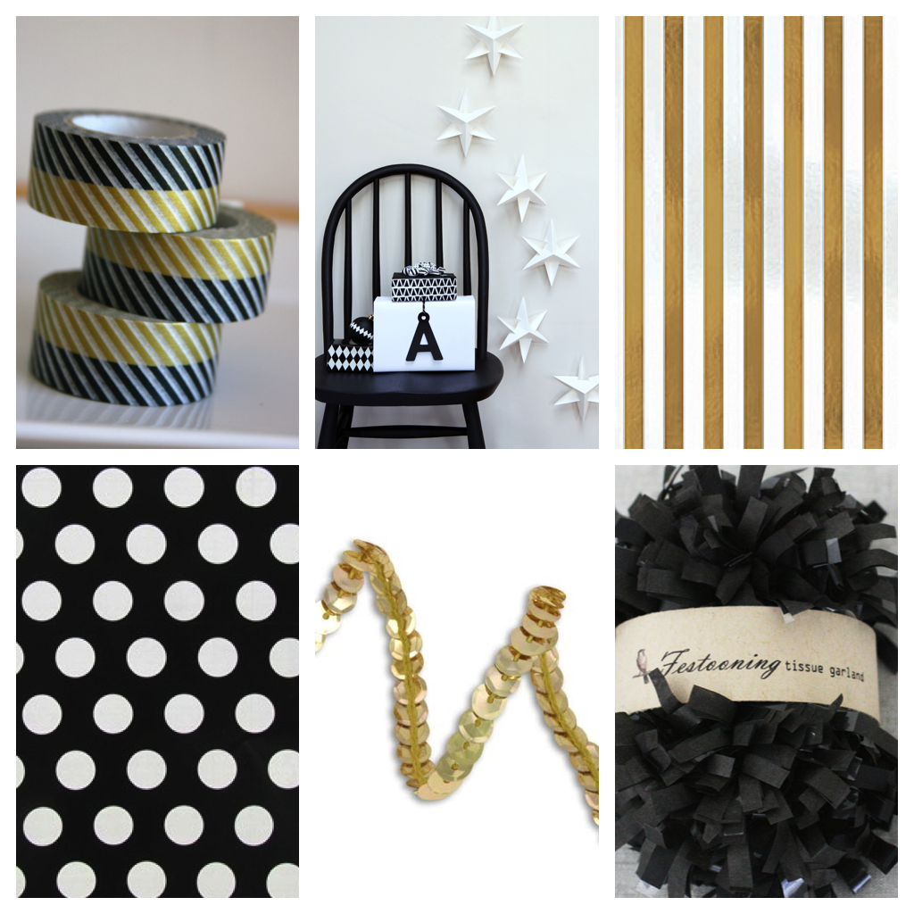 Black:White:Gold Modern Xmas Wrapping 3