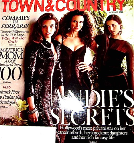 andy mcdowell and daughters on cover of Town & Country