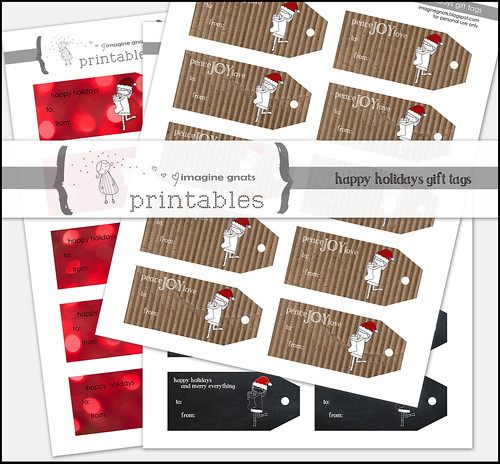 happy holidays gift tags printable
