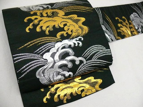 Black/Silver/Gold Nagoya Obi